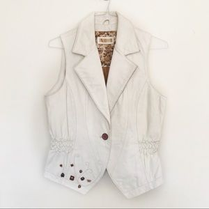 Wilson's Leather White Western Style Vest